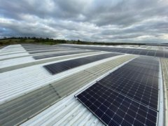 Solar panels on the rooftop of CTG in Banbury, owned and managed by Low Carbon Hub