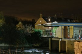 Osney Lock Hydro by night