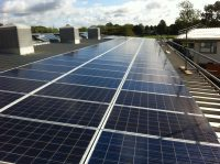 Solar panels on the rooftop of Didcot Girls School, owned and managed by Low Carbon Hub
